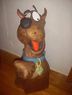 "4 ft. Paper mache bust of ""Scooby- Doo"" #piñata"