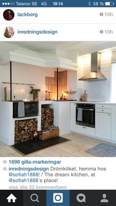Kök Kitchen Island, Home Decor, Island Kitchen, Decoration Home, Room Decor, Interior Design, Home Interiors, Interior Decorating