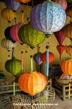 Vietnamese silk lanterns