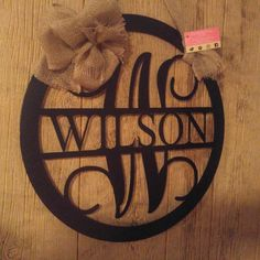 Door Hanger Wreath Vine Monogram Wall Decor Wedding Gifts For