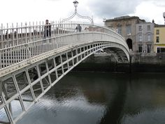 The Ha'Penny Bridge in Dublin. Must go there again. Soon.  Photo from the quite lovely soletraveller.com site.