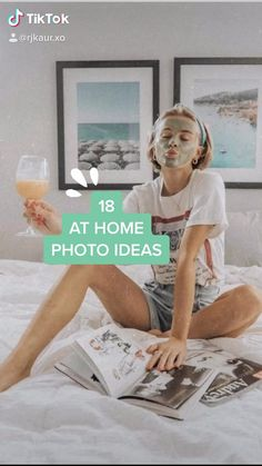 girl photography poses at home