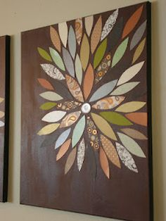 DIY canvas art for Bailey's room makeover.