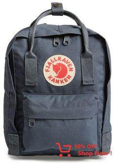 Fjall Raven 'mini Kanken' Water Resistant Backpack In Graphite Fjallraven Mini, Kanken Mini, Nylons, Mini Backpack, Mini Bag, Backpack Bags, Rucksack Backpack, Mochila Kanken, Fjällräven Kanken