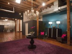 "The judges liked the room's large-scale rug and chandelier, but weren't fans of the ""juvenile"" turquoise, purple and black palette."
