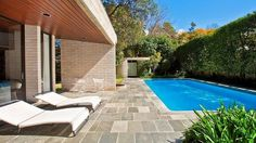 How about an architecturally-designed pool?This is the pool at Harry Seidler's Gissing House at Wahroonga.