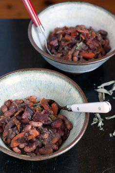Jacob's Cattle Beans with Bacon & Sage
