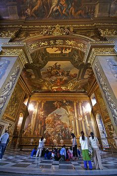 THE PAINTED HALL at the Royal Naval College in Greenwich. London