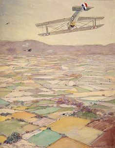 Sopwith Camel Looping by Frank Johnston Canadian Painters, Canadian Artists, Franklin Carmichael, Group Of Seven Paintings, Tom Thomson Paintings, Emily Carr, Canada Images, Nature Paintings, Commercial Design