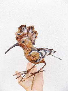 tundra taiga paper mache animal head | Birds
