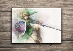 The Legend of Zelda Poster Link Print by MaxiPrint on Etsy