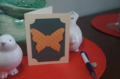 Butterfly Card, Embossed Butterfly Card by MomsCrazyCraftroom on Etsy