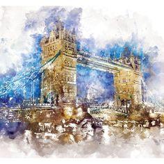 Tower Bridge London Print Poster Art Architecture