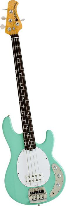 This is AWESOME! - Music Man Classic Stingray 4 Electric Bass Guitar Mint Green Rosewood Fretboard with Birdseye Maple Neck