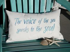 Outdoor pillow The voice of the sea speaks to the by crabbychris, $38.00