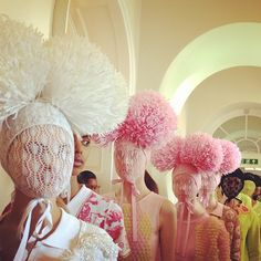 Insta-Peep-O-Gram: London Fashion Week  By Jenny Bahn  Leave it to Katie Grand, editor-in-chief ofLove Magazine, to come up with some killer shots of London Fashion Week. I love the styling here for Sister by Sibling. It's like Deadmau5 and Maison Martin Margiela got together and had a knitting party. What a gorgeous bit of fun this is?  To follow Katie Grand on Instagram, her handle is @kegrand.  (Photo: Courtesy of Katie Grand)