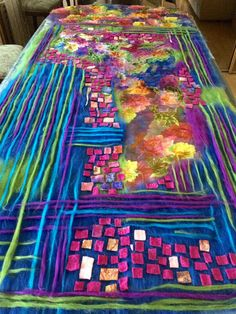 Lots of amazing unusual ways of felting techniques Felt Fabric, Fabric Art, Nuno Felting, Needle Felting, Felt Wall Hanging, Felt Purse, Textiles, Textile Fiber Art, Felting Tutorials