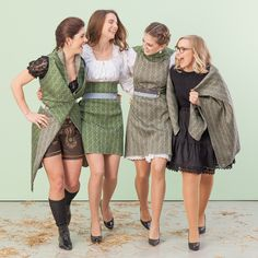 our new variable Dirndl is available now Every Woman, Shop Now, Wrap Dress, Fur Coat, Women Wear, Bohemian, Variables, Grey, Spring