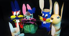 Ideas for each plastic DIY - Joanna Wajdenfeld: Toys from the rolls - bunnies
