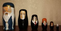Harry Potter Russian Nesting Dolls by Monklin