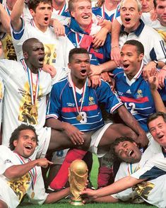 Football Soccer, Football Players, France 98, Fifa World Cup, Marcel, 20 Years, Retro, Champion, Thierry Henry