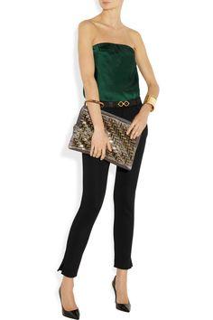 Lanvinclutch, top and cuff, Jil Sander pants