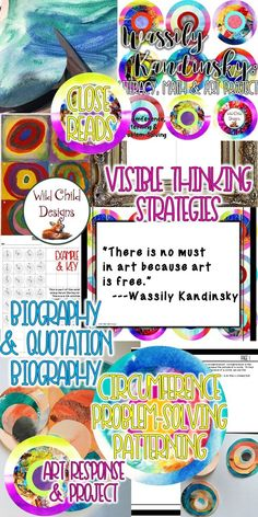 Perfect for grades 5th-7th, this project includes literacy, art, and math activities! Students engage in art response, close reading strategies, explorations of circumference and problem solving strategies, finally creating their own Kandinsky-inspired ar
