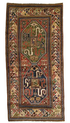 Cloudband Kazak rug, Southwest Caucasus approximately 8ft. by 3ft. 11in. (2.44 by 1.19m.) circa 1900