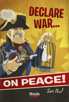 War on Peace  --by Ron Jensen https://www.etsy.com/shop/MrSuspenders http://alldrawnout.blogspot.com/