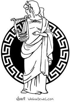 Greek muse lyre. Watkanjewel.com Niels Vergouwen