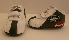 Reebok New York Jets Leather ~ Baby Sneakers...