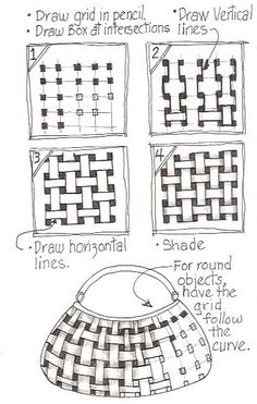 Image result for Zentangle Patterns For Beginners Step by Step basket weave