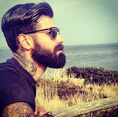 Beard. Tattoos