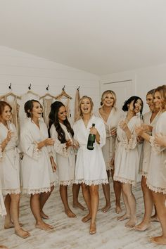 Bridesmaids, bridesmaid getting ready, getting ready, white wedding, bridal robe. Wedding Picture Poses, Wedding Poses, Wedding Dresses, Wedding Pictures, Wedding Ideas, Bridal Party Poses, Wedding Family Photos, Funny Wedding Photos, Bride Poses