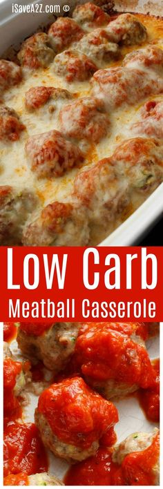Low Carb Meatball Casserole Enjoy some of your favorite Italian flavors with significantly fewer carbs! The post Low Carb Meatball Casserole appeared first on Rezepte. Beef Recipes, Low Carb Recipes, Cooking Recipes, Healthy Recipes, Potato Recipes, Lunch Recipes, Chicken Recipes, Recipies, Dog Recipes