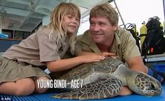 TV star: Bindi Irwin was shown at age seven with her late father Steve Irwin