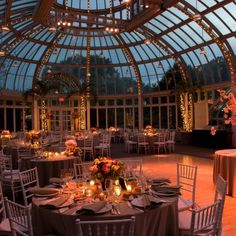 Palm House of the Brooklyn Botanical Gardens-- softly romantic in twilight.The Palm House of the Brooklyn Botanical Gardens-- softly romantic in twilight.