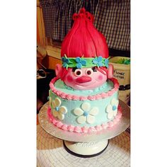 poppy troll cake Troll, Poppy, Cake, Desserts, Food, Pie Cake, Meal, Cakes, Deserts