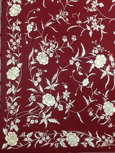 Fecha junio Border Embroidery, Embroidery Works, Embroidery Saree, Indian Embroidery, Embroidery Patterns, Hand Embroidery, Machine Embroidery, Fabric Patterns, Flower Patterns
