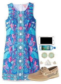 """Hes just so different//Alyssa"" by preppy-and-classy-girls ❤ liked on Polyvore featuring Lilly Pulitzer, Sperry, Kendra Scott and Moschino"