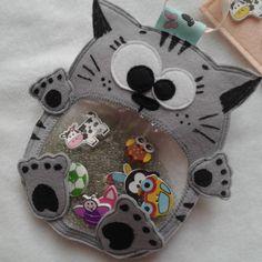 "Игрушка искалка из фетра ""Серый кот"" - Каталог рукоделия #100836"