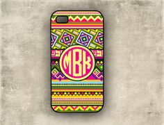iPhone case  Tribal aztec pattern  preppy circle by ToGildTheLily