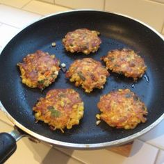 vegetable pancakes  use egg replacer and these will be vegan