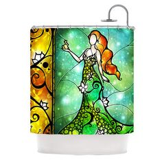 KESS InHouse Fairy Tale Frog Prince Shower Curtain