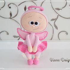 Pink Angel#bonnie #doll #crochetdoll #amigurumidoll #pinkangel #angelbonnie #crochetangel #havvadesigns #crochetlove #handmade