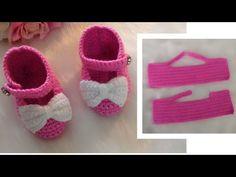 crochet slipper very easy(English subtitles) Crochet Sole, Crochet Slipper Pattern, Booties Crochet, Crochet Slippers, Baby Booties, Easy Crochet, Crochet Baby, Knit Crochet, Baby Shoes