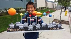 Helped my nephew create a solar system for his science project Easy Science, Science Fair, Science For Kids, Class Projects, School Projects, Projects For Kids, Project Ideas, Solar System Activities, Solar System Projects