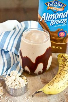 Fuel up with a Chocolate Peanut Butter Protein Smoothie