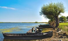 """""""Lotca"""" - typical old style boat used by fishermen of Danube Delta"""