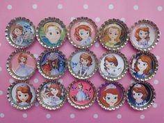 Sofia The First party favors glitter by BoutiqueChicGallery, $12.00